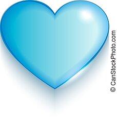 Valentine heart on white background