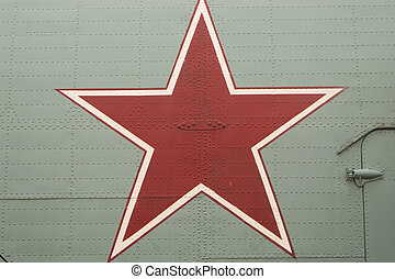 Red Star - Close up of red star marking on helicopter