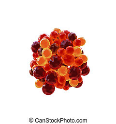 gumballs isolated on white background