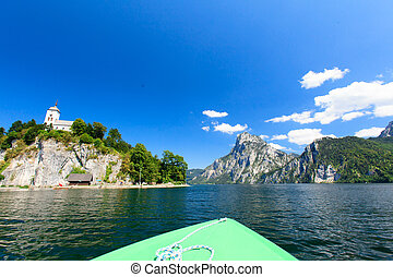 A boat trip - A boat trip on the lake near Salzburg Austria...