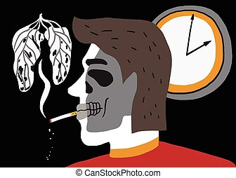 smoking man illustration
