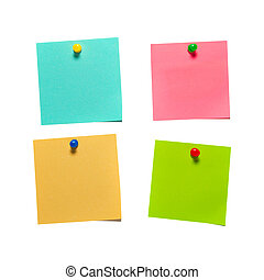 Different color stickers - Four different color paper...