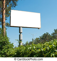 Blank billboard with empty space
