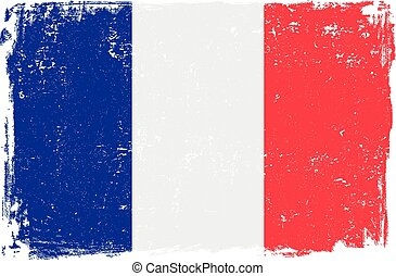 France flag vector isolated on white background.