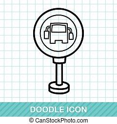 Bus stop doodle