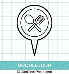 GPS diner doodle