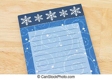 Christmas Wish List, Christmas Wish List with snowflakes and...