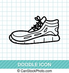 Running shoes doodle