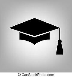 Graduation cap sign - Mortar Board or Graduation Cap,...