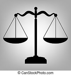 Scale balance sign - Scales balance. Flat style icon. Vector...