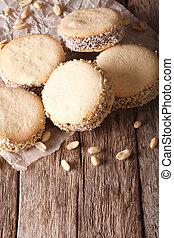 argentino, cuisine:, alfajores, con, crema, en, papel,...