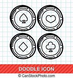 poker doodle