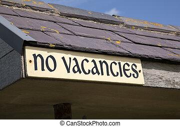 No Vacancies Sign