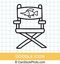 Fishing chair doodle