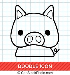 Chinese Zodiac pig doodle