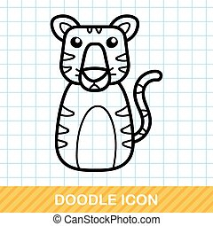 Chinese Zodiac tiger doodle