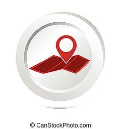 karta, knapp, stift, ikon