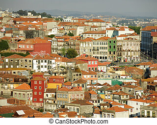 View of Ribeira district in Porto, Portugal