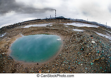 ecology pollution - landscape pollution of the environment...