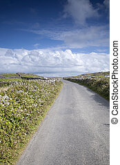 Open Road near Kilronan on Inishmore, Aran Islands, Ireland