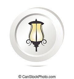 Street light button, icon vector illustration