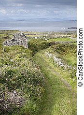 Open Track on Inishmore, Aran Islands, Ireland