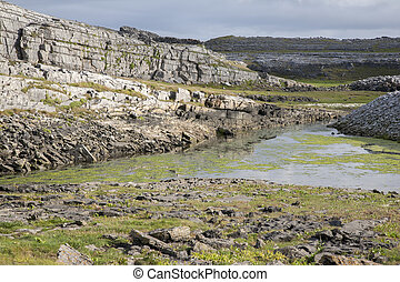 Rocky Landscape on Inishmore; Aran Islands; Ireland
