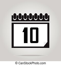 Calendar icon number 10 illustration - Calendar icon number...
