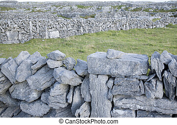 Stone Walls on Inishmore; Aran Islands; Ireland