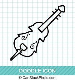 musical instrument violin doodle