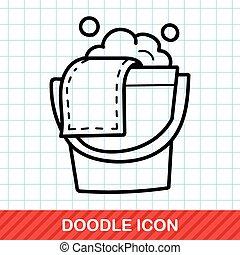 water bucket doodle