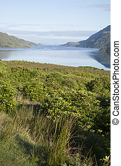 Killary Fjord, Leenane, Connemara National Park, Galway,...