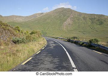 Open Road in Connemara National Park; Galway; Ireland