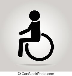 Disabled icon sign vector illustration
