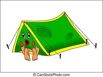 Couple in tent - couple tent nature sex young green color...