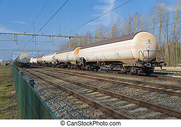 train waggon for liquids like petrol or oil