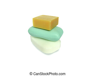 Three pieces of soap