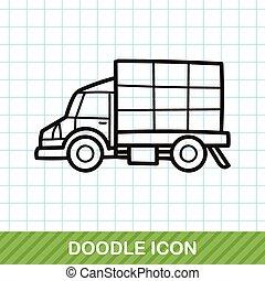 cargo truck doodle