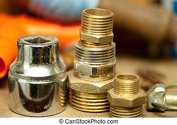 Threaded install pieces - used and worn threaded plumbing...