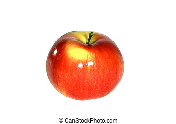 Red Apple on White Background - Fruit Fresh and Juicy Red...