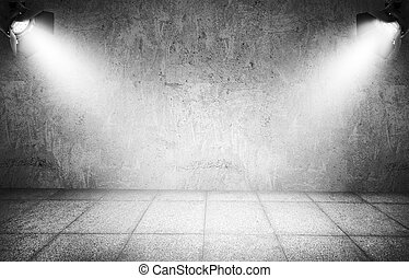 Spotlights - Dark background with spotlights