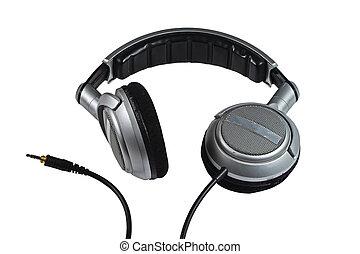 dj, auriculares, blanco, Plano de fondo