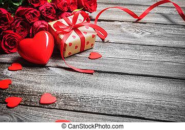 Valentines day background - Valentines day vintage...