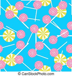 Sweet candy seamless pattern Colorful sugar wrap paper -...