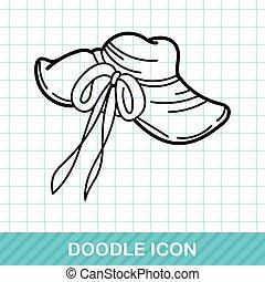 sun hat doodle