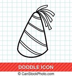 party hat doodle
