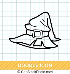 witch's hat doodle