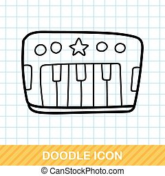 Toy piano doodle
