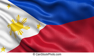 Flag of Philippines - Highly detailed flag of Philippines...