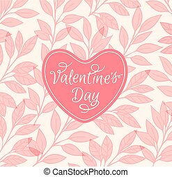 Pink floral background with heart